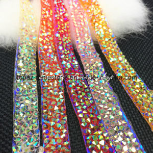 Ab Colors Resin Stone Rhinestone Transfer Diamond Rhinestone Trim Chain for DIY Accessories (TS-051) pictures & photos