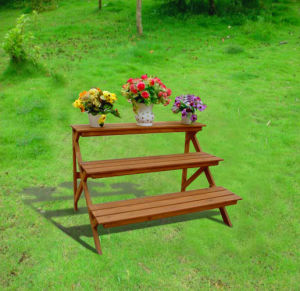 Farmhouse Vintage Garden Furniture Plant Shelf Display Flower Stand