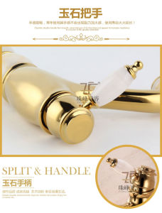 New Design Single Handle Zf-704 Jade Brass Basin Mixer pictures & photos