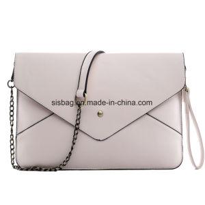 Womens Party Envelope Evening Bag PU Clutch Purse Bag pictures & photos