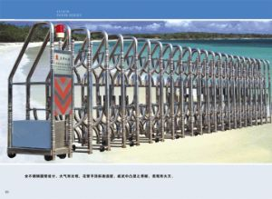 High Quality Electric Automatic Gate Exterior Fast Moving Retractable Door pictures & photos