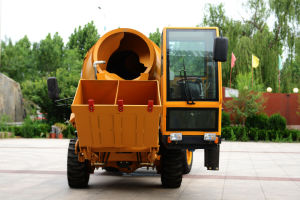 China 4*4 Drive Cheap Concrete Mixer Truck (HQ400) with Self Loading System pictures & photos