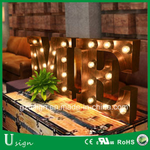 Wedding Decorative Outdoor Big Marquee Bulb Letter Sign pictures & photos