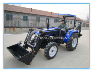 LZ404/LZ454/LZ505 Middle HP 4x4 Tractor with Front End Loader and Backhoe pictures & photos