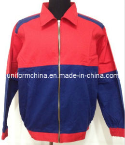100% Cotton Contrast Color Twill Jacket-Fashion Work Jacket/Workwear (2104)