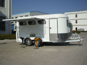 3 Horse Float 3horse Trailer with Swing out Tool Box China Imported pictures & photos