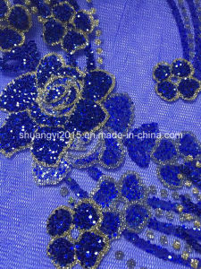 Glitter Surface and Lace Backing for Fashion Garments pictures & photos