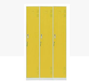 3 Doors Metal Armoire Closet pictures & photos