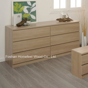 Simply Design Wooden Bedroom 6 Drawer Storage Chest (HC27) pictures & photos