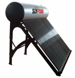 Plastic Spraying Coating Solar Water Heater (SPR 50-300L) pictures & photos