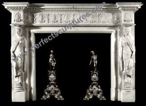 Marble Fireplace Mantel for Home Decoration (QY-LS378) pictures & photos