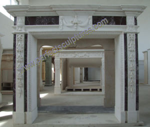 Marble Fireplace with Stone Sandstone Granite Limestone (QY-LS392) pictures & photos