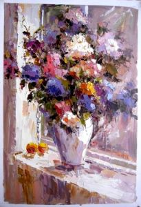 Oil Painting Flowers (F017)