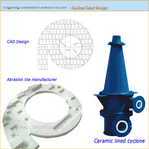 Alumina Ceramic Wear Resistant Cyclone Liner pictures & photos