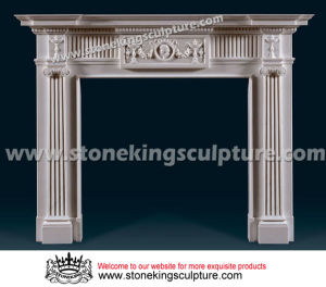 Hand Carved Marble Fireplace of Top Quality (SK-2397) pictures & photos