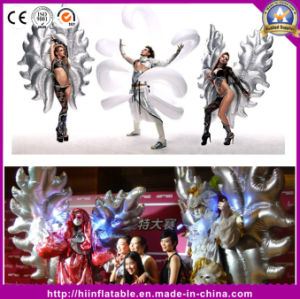 Venice Carnival Costumes Fantasic Club Night Bar Party Costume Inflatable Silver Angle Wing pictures & photos