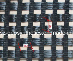 Woven Pes Geogrid 25/25kn/M