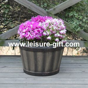 Plastic Flower Pot Barrel (FO-9882) pictures & photos