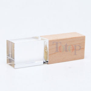 Eco Bamboo Flash Drive with LED Light pictures & photos