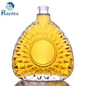 Frosting Glass Wine Bottle with Glass Cap pictures & photos