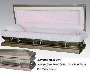 Summitt Rose Full Couch Casket