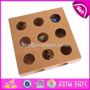 Unique Design Toy Puzzle Box Wooden Cat Toys Best Sale Wooden Interactive Cat Toys for Sale W06f032 pictures & photos