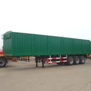 Best Quality Grain Transportation Van/ Box Trailer with 3 Axles pictures & photos