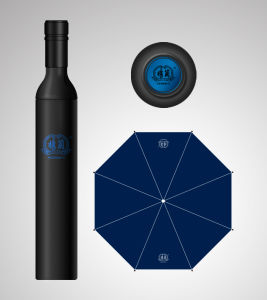 3 Foldable Manual Open Bottle Umbrella Wine Umbrella (3FU008) pictures & photos