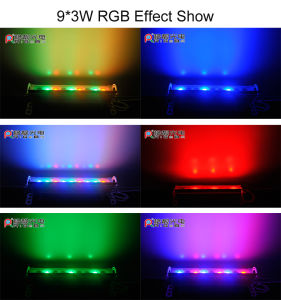 9 LEDs 3W RGB 3in1 Waterproof Outdoor LED Wall Washer pictures & photos