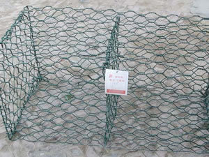 Plastic Coated Woven Wire Mesh Gabions pictures & photos