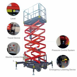 7.5m Semi Electric Hydraulic Scissor Lift with Ce Approved pictures & photos