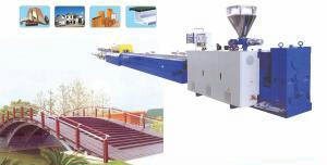 WPC Profile Manufacturing Line, WPC Profile Extruding Machinery pictures & photos