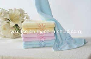 100% Cotton Embroidered Baby Cleaning Towel Hy-17-1