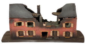 China polyresin 3d games village house miniature building for 3d house building games online