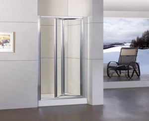 Bifold Shower Door with Duble-Side Easy Cleaning Coating (WA-B090) pictures & photos