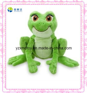 Green Jumping Frog Electronic Plush Toy (XDT-0026Q) pictures & photos