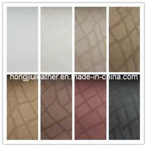 Flame-Resistance Fabric PVC Decorative Leather (Hongjiu-568) pictures & photos