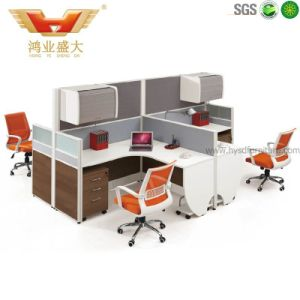 4 Seats Hot Popular Modern White Office Workstation Partition (HY-P06)