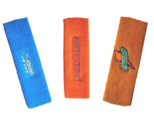 Gym Sports Cotton Sweat Wristband and Headband pictures & photos