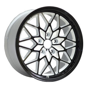 Black Painted White Inner Groove Alloy Wheel UFO-LG13 pictures & photos