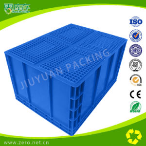 Blue Color Transportation Logistic Plastic EU Container pictures & photos