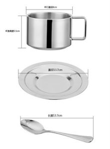 180ml Three-Piece 304 (18-8) Stainless Steel Coffee Cup pictures & photos