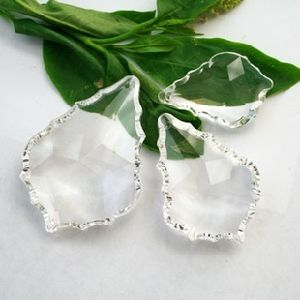Maple Leaf Shaped Crystal Beads For Chandeliers Ks28004