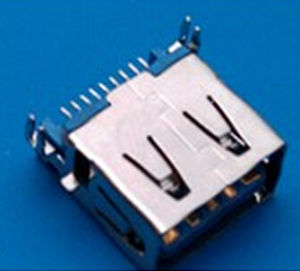 Female 9 Pin Fork Sinking Type USB 3.0 Connector