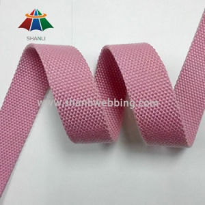 1 Inch Pink Polyester Cotton Webbing pictures & photos