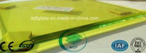 Double Clear Float Glass+Yellow PVB Laminated Glass