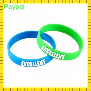 Manufacture Cheap Customized Silicon Wristband (gc-s005) pictures & photos