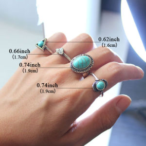 Heart Oval Triangle Ring Set with Synthetic Stone Rings for Women pictures & photos