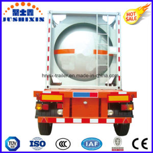 Three Axles 24000L Semitrailer Oil Tank Container pictures & photos