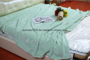 Warm and Light Coral Waffle Blanket Sr-B170211-2 Super Soft Blanket pictures & photos